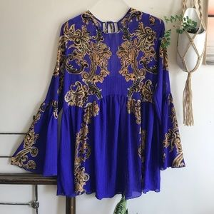 Free people intimately blue tunic dress
